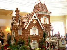 If I am not mistaken, this is a life size gingerbread house made for one of the Disney resorts...AMAZING