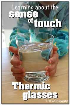 Explore the sense of touch focusing on temperature using DIY thermic glasses. Make four glasses with water of different temperatures. Have k...