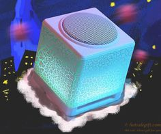 Moonlight appearance, built-in bright marquees Crack striped small speakers  | Hot Sale Gift