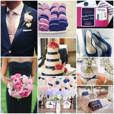 Baby Pink and Navy Blue wedding theme