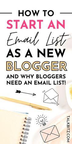 Pinterest Advertising, Pinterest Marketing, Email Marketing Strategy, Affiliate Marketing, Blogging For Beginners, Blogging Ideas, Blogger Tips, Blog Writing, Email List