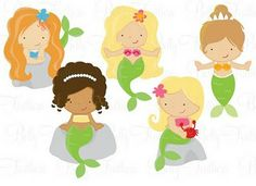 Mermaids for Party Printables: http://www.etsy.com/listing/79778663/mermaid-printables-personalized-party