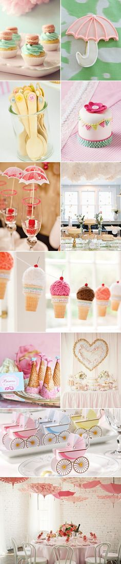 Baby Shower Ideas for girls I LOVE the umbrella idea on this page! Super cute!