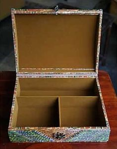 Recycled Paper Jewelry Box RECICLAJE DE PAPEL Pinterest Paper
