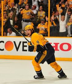 Filip Forsberg Photos Photos - Filip Forsberg #9 of the Nashville Predators reacts after scoring the game-tying goal against the Chicago Blackhawks during the third period in Game Three of the Western Conference First Round during the 2017 NHL Stanley Cup Playoffs at Bridgestone Arena on April 17, 2017 in Nashville, Tennessee. - Chicago Blackhawks v Nashville Predators - Game Three