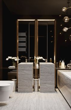 Luxury master bathroom ideas decor is totally important for your home. whether you choose the bathroom ideas apartment design or small bathroom decorating Bathroom Spa, Bathroom Toilets, Modern Bathroom, Bathroom Lighting, Bathroom Ideas, Bathroom Vanities, Royal Bathroom, Serene Bathroom, Restroom Ideas