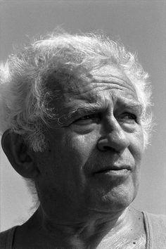 Norman Mailer (1923-2007) - American novelist, journalist, essayist, playwright, film maker, actor and political candidate. Photo by Gottfried Helnwein, 1990