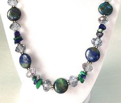 Hey, I found this really awesome Etsy listing at https://www.etsy.com/listing/191039425/beaded-blue-gemstone-necklace-with