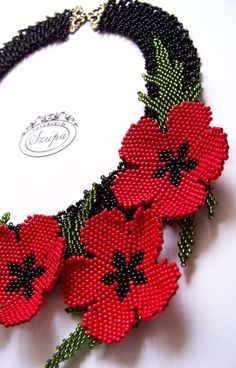 Original beaded jewelry for women and girls. Beading Projects, Beading Tutorials, Beading Patterns, Embroidery Bracelets, Beaded Embroidery, Beaded Bracelets, Memory Wire Bracelets, Seed Bead Flowers, French Beaded Flowers