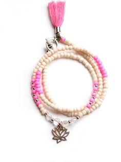 """Lotus Armband """"Kamala"""" Nude"""