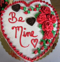 Perfect cake for Valentine's Day from Mueller's Bakery!