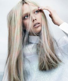 """New collection by #AngeloSeminara for #Davines """"Mother of Pearl"""". Which he presented his collection in Paris in May at #WWHT2013 @Davines Excited for the new colours that will arrive soon in the state. 6 new fun tones!  Nature's palettes Eyes in need of beauty"""