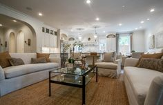 Open Concept Family/Kitchen Area | Avida Custom Homes