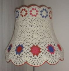 Crochet Home, Crochet Granny, Knit Crochet, Crochet Lampshade, Quilt Patterns, Crochet Patterns, Crochet Decoration, Crochet Needles, Fabric Crafts