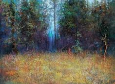Li Tieshu Autumn Woods pastel