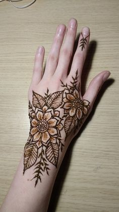 Two flower hand design