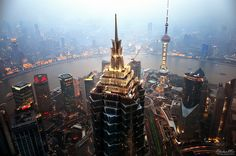 A great shot from the New Shanghai looking at the Old. What an amazing trip!!