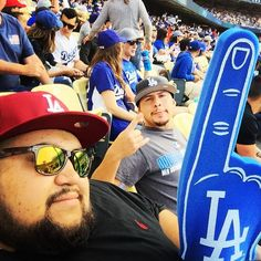 THINK BLUE: First sober dodger game! They lost but good times w/ shmurda #dodgergame #dodgers #lahat #cali #LA #espn by socal_scorpio