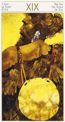 The Tarots of the Origins. Аркан XIX Солнце.
