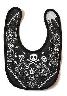 Rock Baby Bib | Skull & Crossbones Baby Bib | Baby Moo's Clothes