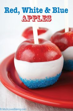 Red, White & Blue Apples are dipped in white chocolate and sprinkles, plus they are super easy to make with just 3 ingredients! Memorial Day is coming up, so I wanted to make something festive for the holiday. Red, White and Blue Apples are the perfect patriotic treat. Even better, they're only 3 ingredients! Candy …