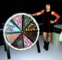 fun and clever roller derby fund-raiser idea - a penalty wheel...a little old school, but could work