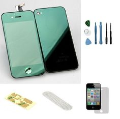 Iphone 4S Complete Color Change Kit (Mirror Green) #http://www.pinterest.com/ordercases/