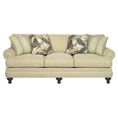 I pinned this Sugar Hill Sofa from the Paula Deen event at Joss and Main! Love the Sofa, could live with out the fern pillows