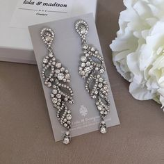 Hey, I found this really awesome Etsy listing at https://www.etsy.com/ca/listing/126010197/bridal-chandelier-earrings-wedding