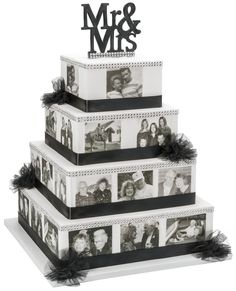 Use PhotoCake to create a custom wedding cake and share the bride and groom's love story through edible pictures.