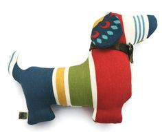 Extra Durable Dog Toy Doxie Dog 'DOUBLE FABRIC by wagsandwiggles