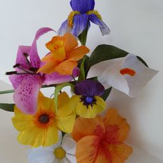 Overview, Patterns for Crepe Paper Flowers
