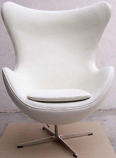 arne jacobsen style egg chair in white italian leather arne jacobsen style alpha shell egg
