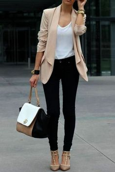 Great Summer Business Outfit Ideas To Get An Excellent Look This Year 50 Business casual outfit is among the hardest to define. The appropriate attitude and the correct small business outfit really can Classic Work Outfits, Fall Outfits For Work, Casual Work Outfits, Mode Outfits, Work Casual, Casual Fall, Outfit Work, Casual Outfits Classy, Casual Work Clothes