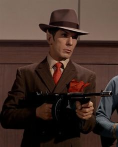 """You may be cool, but you will never be """"Spock as a gangster"""" cool..."""