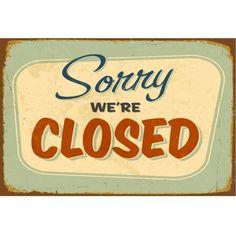 """Une petite touche d'humour américain dans la maison ? C'est possible avec ce tableau en plexiglass """"Sorry we're closed""""..."""