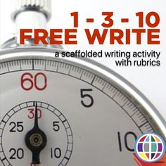 In this scaffolded writing activity, students write for 1 minute, 3 minutes, and finally 10 minutes, each time copying what they wrote in the previous time segment before adding to it. ACTFL aligned rubrics included - GREAT for language classes. Paragraph Writing, Persuasive Writing, Writing Rubrics, Opinion Writing, Writing Centers, High School Writing, First Grade Writing, Writing Lessons, Writing Activities