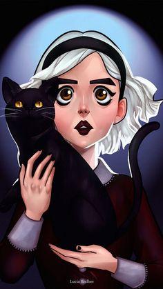Wallpapers: Chilling Adventures of Sabrina - Sai da Minha Lente Witch Wallpaper, Kiernan Shipka, Cartoon Profile Pics, Sabrina Spellman, Poses References, Witch Art, Cute Animal Drawings, Archie Comics, Doll Repaint