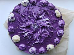 Raw Food Art Yummy-licious blueberry cake  :-) #raw #vegan #cake #food #art