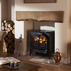 Made to measure inglenook fireplace by Artisan Fireplace Design. Visit our Brighouse fireplace showroom for our stunning collection of Inglenook fireplaces. Log Burner Living Room, Log Burner Fireplace, Fireplace Set, Inglenook Fireplace, Wood Burner, Fireplace Design, Fireplace Showroom, Fireplace Heater, Fireplace Ideas