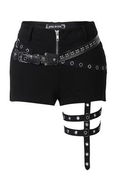 Punk rivet shorts with surround thigh design Punk rive. - Punk rivet shorts with surround thigh design Punk rivet shorts with surro - Punk Outfits, Teen Fashion Outfits, Stage Outfits, Gothic Outfits, Kpop Outfits, Cosplay Outfits, Anime Outfits, Mode Outfits, Grunge Outfits
