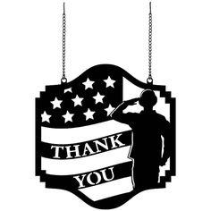 Thank You Veterans Metal Garden Flag