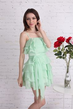 Green Ruffle Dress-Side-Girly look - 302737-image_output