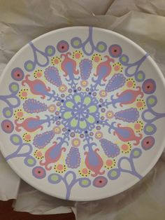 In Progress German Embroidery Bowl by HHPottery on Etsy