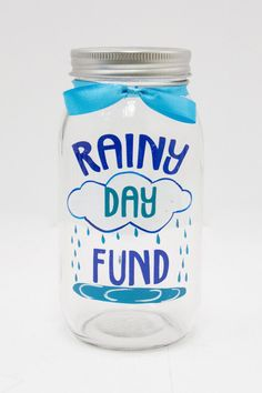 "Perfect for saving up all your pennies for a rainy day! This mason jar has a coin slot top to make storing money a breeze. Size: 3.5"" x 7"""