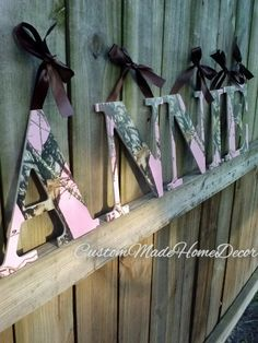 RealTree Camo Camoflauge Letters Nursery by CustomMadeHomeDecor, $8.00
