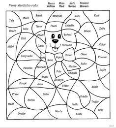 Vybarvování - Vzory středního rodu Motor Activities, Fine Motor, Animals And Pets, Montessori, Homeschool, Snoopy, Teaching, Writing, Education