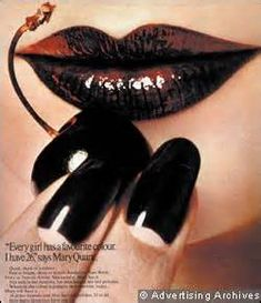 an advert for mary quant makeup from the 1970s