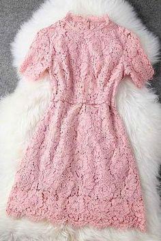 Vestido De Encaje Elegante De Primavera Y Verano