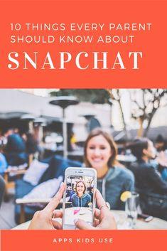 is snapchat ok for kids // popular apps kids use